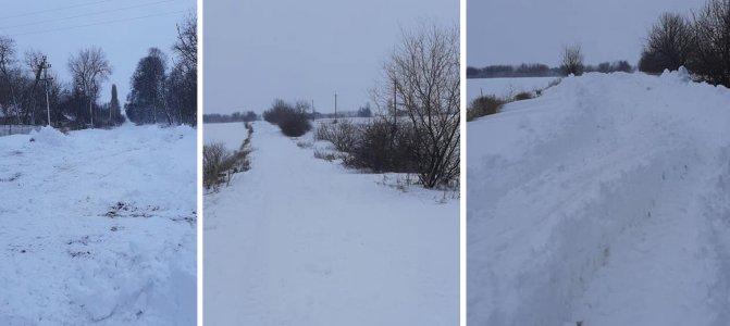 Дороги повинні бути очищені від снігу